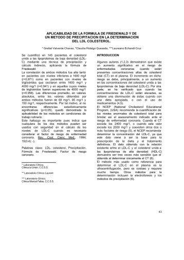 APLICABILIDAD DE LA FORMULA DE FRIEDEWALD Y ... - Binasss