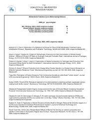 2008 - Dokuz Eylül Üniversitesi Sağlık Bilimleri Enstitüsü Medikal ...