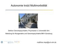 Autonomie trotzt Multimorbidität - Prof. Dr. Matthias Riepe (PDF)