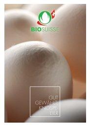 Gut Gewählt: Knospe- eier - Bio Suisse