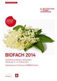 Teilnahmeunterlagen BIOFACH 2014 - Bio Suisse