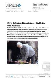 Zwei Dekaden Bioweinbau Rückblick und Ausblick - Bioaktuell.ch