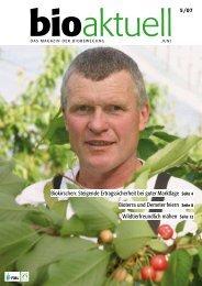 Biokirschen: Steigende Ertragssicherheit bei guter ... - Bioaktuell.ch