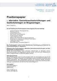 Positionspapier - Fachverband Biogas e.V.