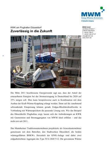 KWK am Flughafen Düsseldorf - Biogas-Infoboard