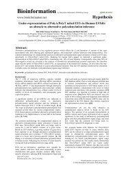 Hypothesis - Bioinformation