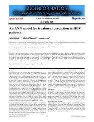 An ANN model for treatment prediction in HBV ... - Bioinformation
