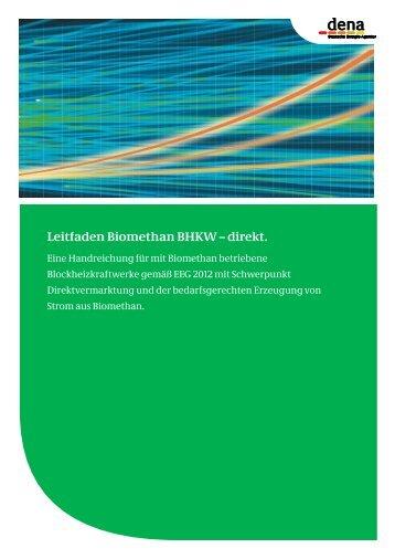 Leitfaden Biomethan BHKW – direkt. - Biogaspartner