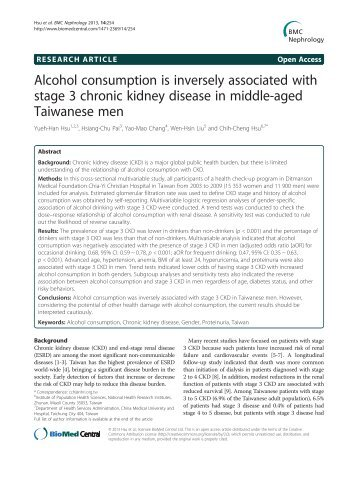 Alcohol consumption is inversely associated with ... - BioMed Central