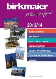 2013/14 - Birkmaier Reisen