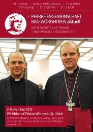 Gottesdienste und Veranstaltungen 11/2013 - Bistum Augsburg