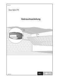 SOMFY Dexxo Optimo Gebrauchsanweisung PDF