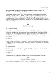 Gefahrenabwehrverordnung über das Abstellen von ...
