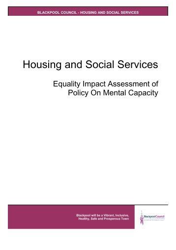 Mental capacity policy [PDF 126KB] - Blackpool Borough Council