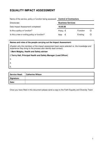 Control of contractors arrangements [PDF 45KB] - Blackpool ...