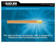 This tight-buffered, distribution cable is designed for backbone inter ...