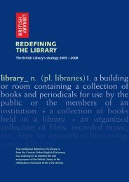 library_ n. (pl. libraries)1. a building or room ... - British Library