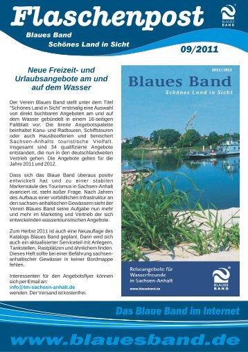 gibt es unseren Newsletter September 2011 - Blaues Band e.V.