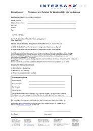 Bestellformular für die Empfangseinheit - Bliesransbach Online