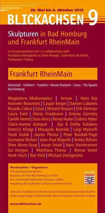 "Ausstellungsbroschüre ""Blickachsen 9 RheinMain"""