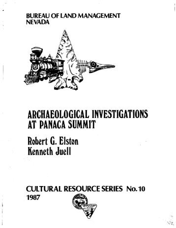 Archaeological Investigations at Panaca Summit - Bureau of Land ...
