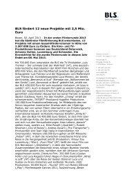 02.04.2013 Pressemitteilung Fördermeldung Call 1 - BLS