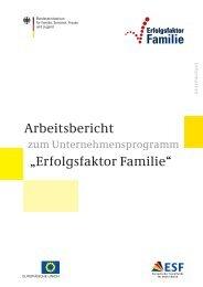 """Arbeitsbericht """"Erfolgsfaktor Familie"""" - Bundesministerium für ..."""