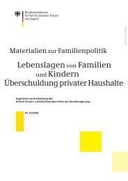 Lebenslagenvon Familien und Kindern Überschuldung privater ...