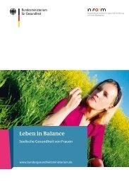 Leben in Balance – Seelische Gesundheit von Frauen