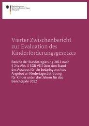 Vierter Zwischenbericht zur Evaluation des Kinderförderungsgesetzes