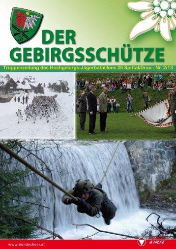 Truppenzeitung des Hochgebirgs-Jägerbataillons 26 Spittal/Drau ...
