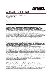 Wahlprüfstein DIE LINKE - Bund gegen Missbrauch der Tiere
