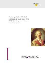 Literatur und ihre Zeit. Don Carlos von Friedrich Schiller ...