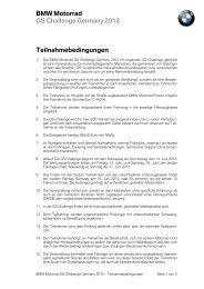 BMW Motorrad GS Challenge Germany 2012 Teilnahmebedingungen