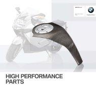 HIGH PERFORMANCE PARTS - BMW Motorrad