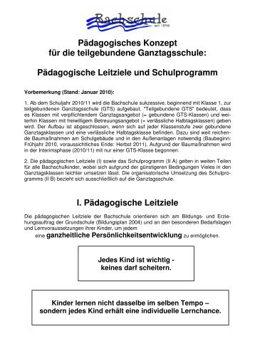 Pädagogisches Konzept für die teilgebundene Ganztagsschule ...