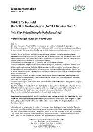 """WDR 2 für Bocholt! Bocholt in Finalrunde von """"WDR 2 für eine Stadt"""""""
