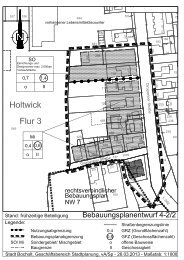 Festsetzungen und Hinweise zum Bebauungsplan 4 - Bocholt