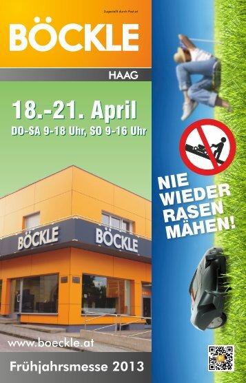18.-21. April 18.-21. April - Werkzeuge Böckle