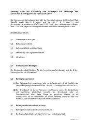 Erhebung von Beiträgen für Feldwege - Gemeinde Böhl-Iggelheim