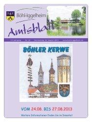 Amtsblatt vom 22.08.2013 (KW 34) - Gemeinde Böhl-Iggelheim