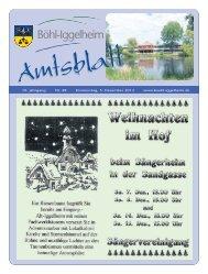 Amtsblatt vom 05.12.2013 (KW 49) - Gemeinde Böhl-Iggelheim