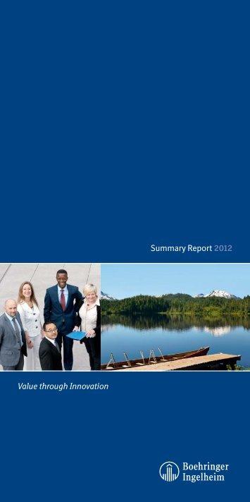 Summary Report 2012 - Boehringer Ingelheim