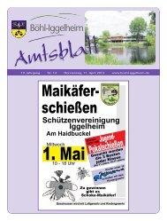Amtsblatt vom 11.04.2013 - Gemeinde Böhl-Iggelheim