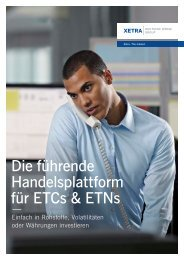 Die führende Handelsplattform für ETCs & ETNs - Börse Frankfurt