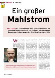 Mein Leipzig Ein silbermähniger Herr, spirituelle Gewinne, ein ...