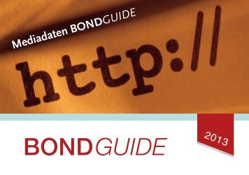 Mediadaten BOND GUIDE