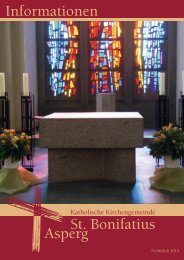 Informationen Nr. 96 (Juli 2013) - Katholische Kirchengemeinde St ...