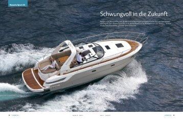 """März 2012 Bavaria Sport 31 """"Schwungvoll in die Zukunft"""" - boot24.ch"""
