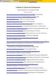 Linkliste zur Theorie der Erdexpansion